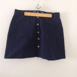 Navy Urban Outfitters button up skirt